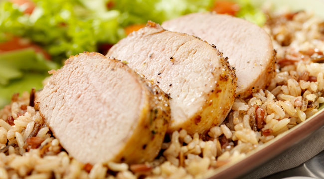 eating-clean-pork-chops-brown-rice